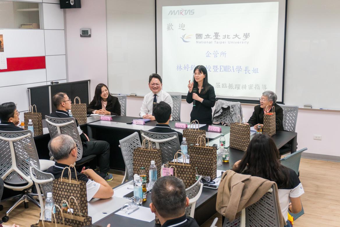 Welcom National Taipei University of EMBA to visit Martas